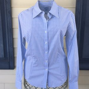 NWOT Brooks Brothers Button Down Blue/White Shirt